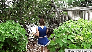 The man cheerleader flashing boobs outdoor