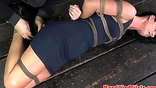 Tied relating to hot mature sub fingered on floor