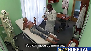 Blonde chick patient gets healed by doctors big cock pounding will not hear of sweet pussy
