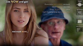 Grandpa fucks blonde pygmy