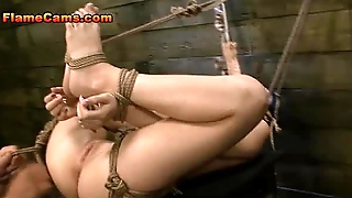 Bound Girl Face And Pussy Fucked